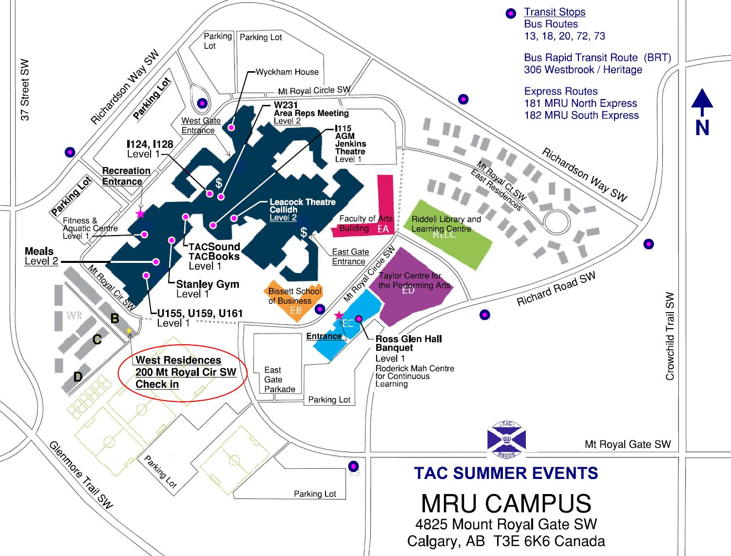 MRU Campus Map